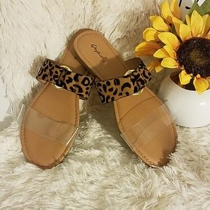 NEW Leopard & Clear Sandals